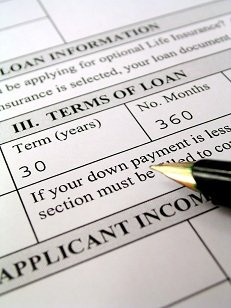 Application form for a loan